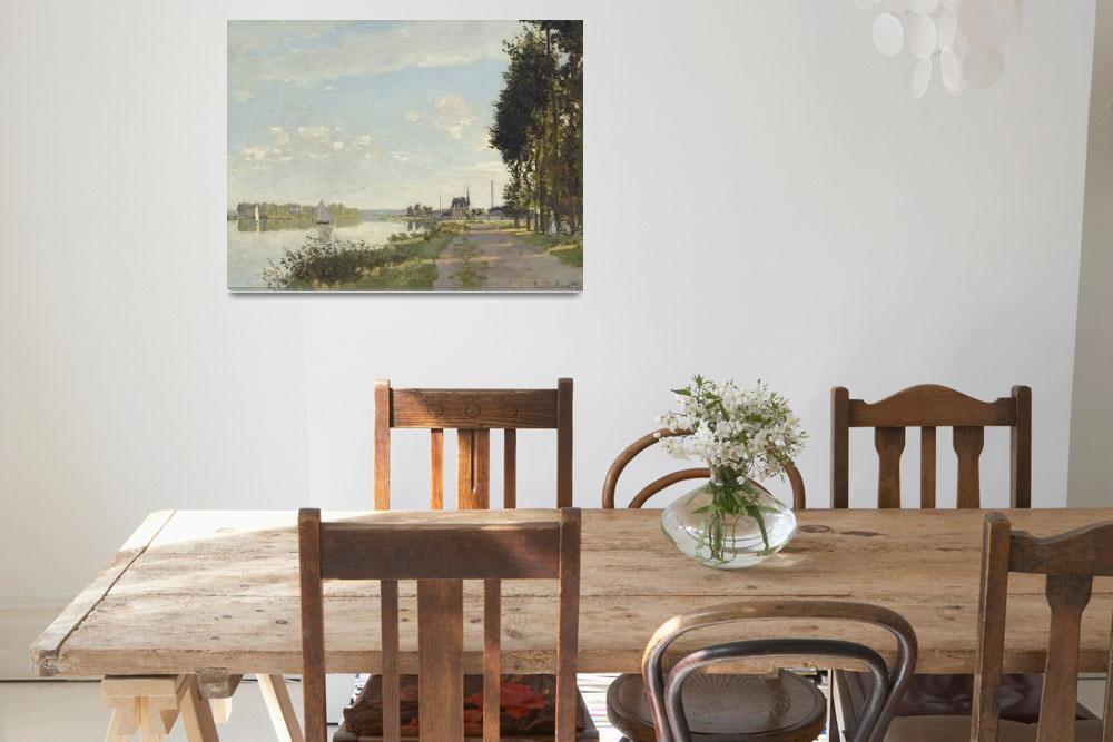 """Argenteuil by Claude Monet""  by FineArtClassics"