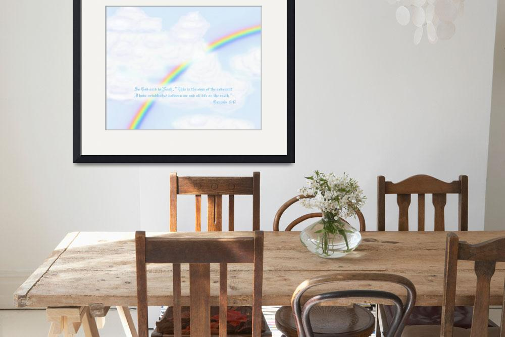 """""""Rainbow with text Genesis 9:17""""  (2012) by TheNorthernTerritory"""