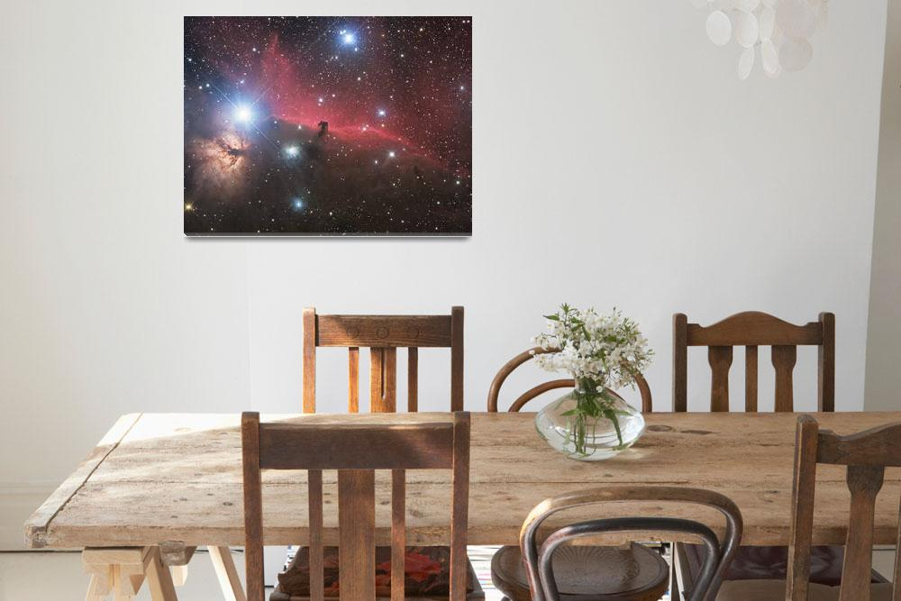 """""""Horsehead Nebula and Flame Nebula in Orion&quot  by stocktrekimages"""