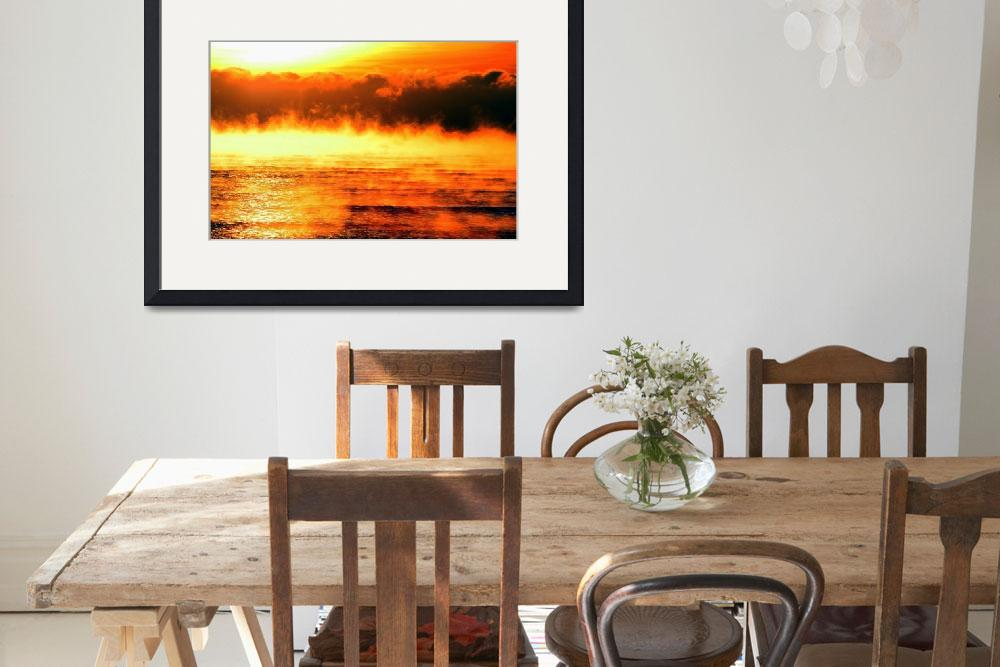 """""""Steaming Sunrise""""  (2007) by markofphotography"""
