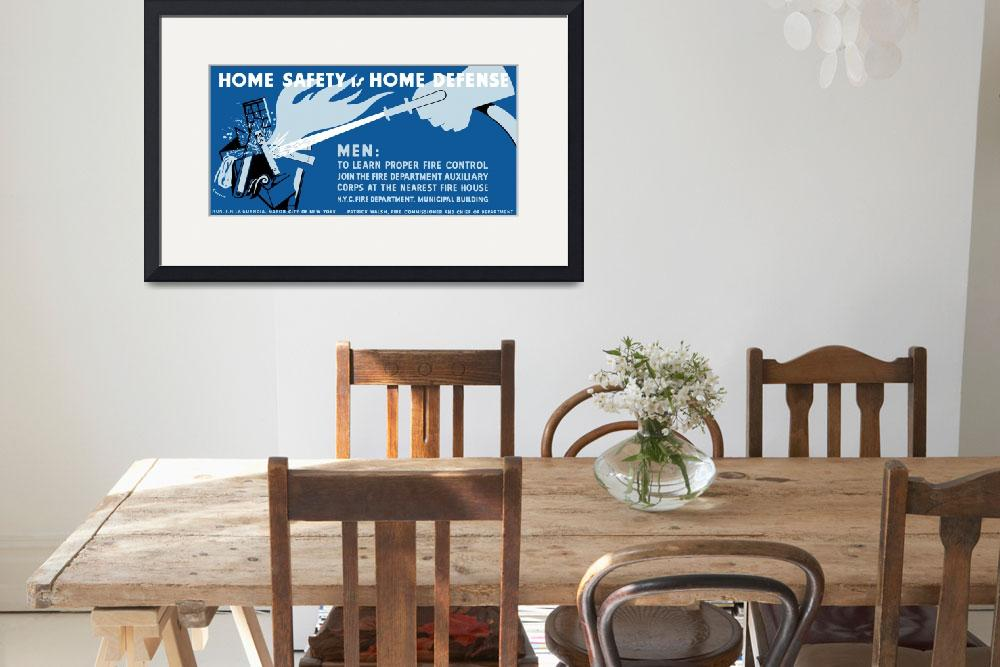 """""""Vintage WPA poster of a hose putting out a house f&quot  by stocktrekimages"""