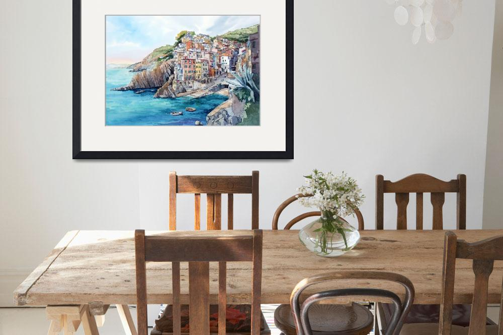 """""""Riomaggiore&quot  by WillyDaleArt"""