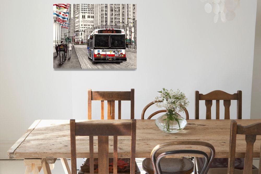 """CTA bus Chicago""  (2015) by Omoro-Rahim"