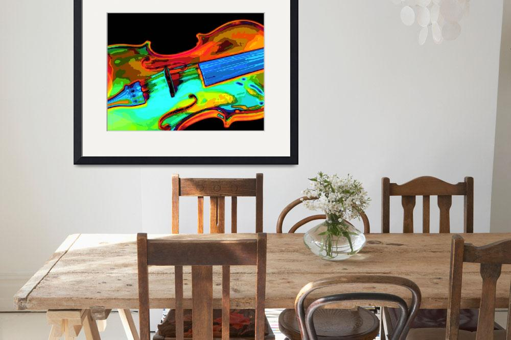 """""""Violin Bright Colors&quot  (2008) by walbyent"""