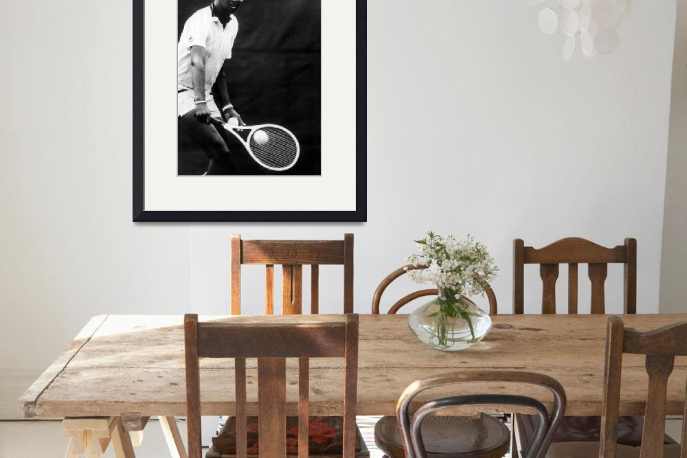 """""""Arthur Ashe playing tennis&quot  by RetroImagesArchive"""