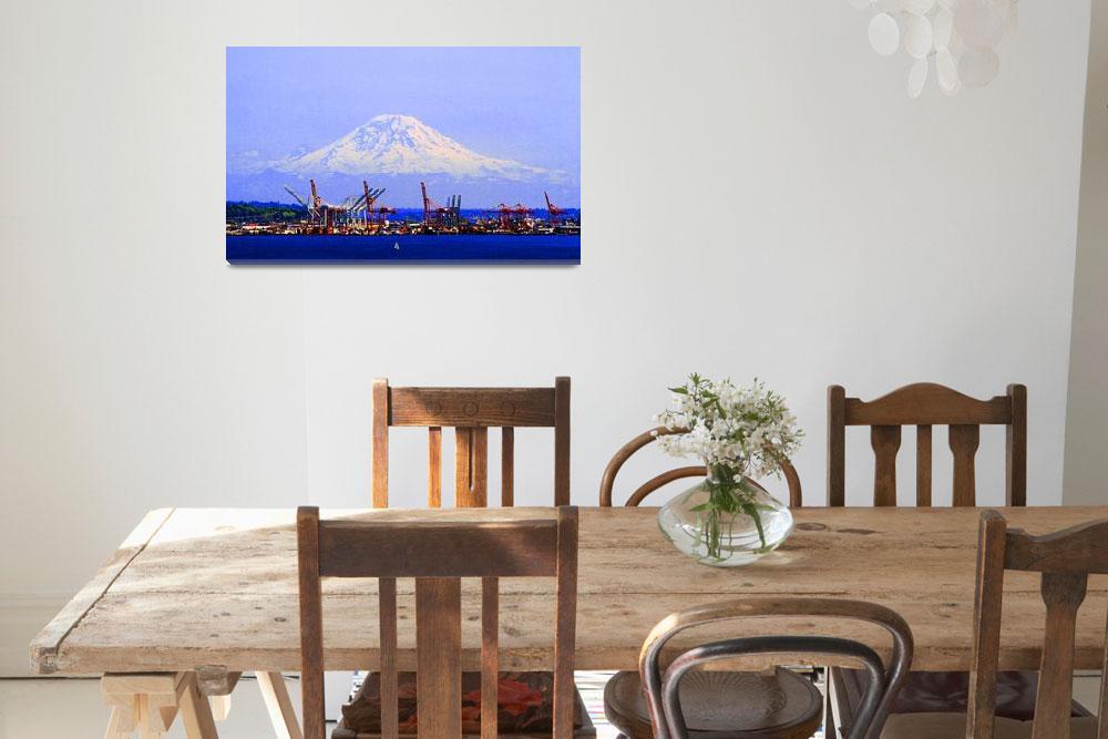 """Mount Rainier&quot  (2009) by nswanson"
