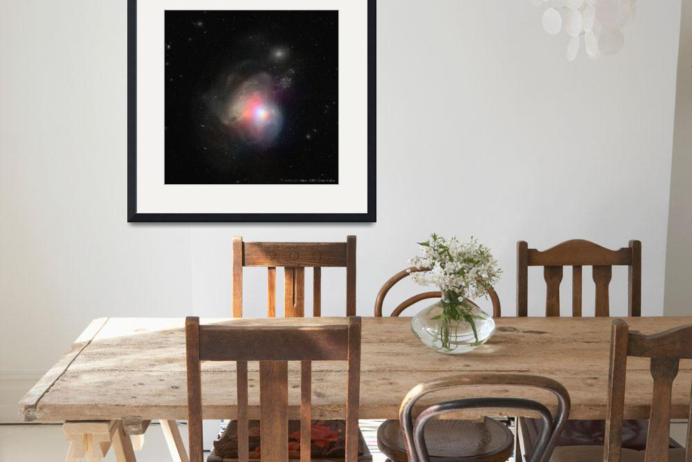 """""""Arp 299,  Black Holes in Colliding Galaxies, NASA&quot  by artisticrifki"""