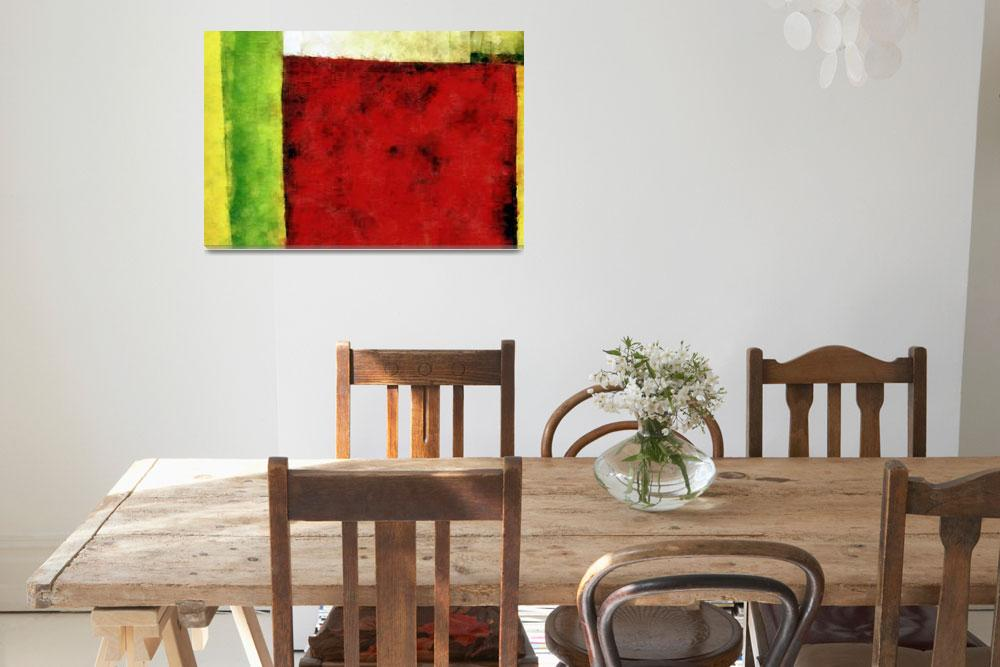 """Red and Green Abstract""  (2008) by Michelle1991"