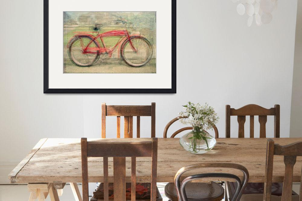 """Red Classic Bikes&quot  by DenisB"