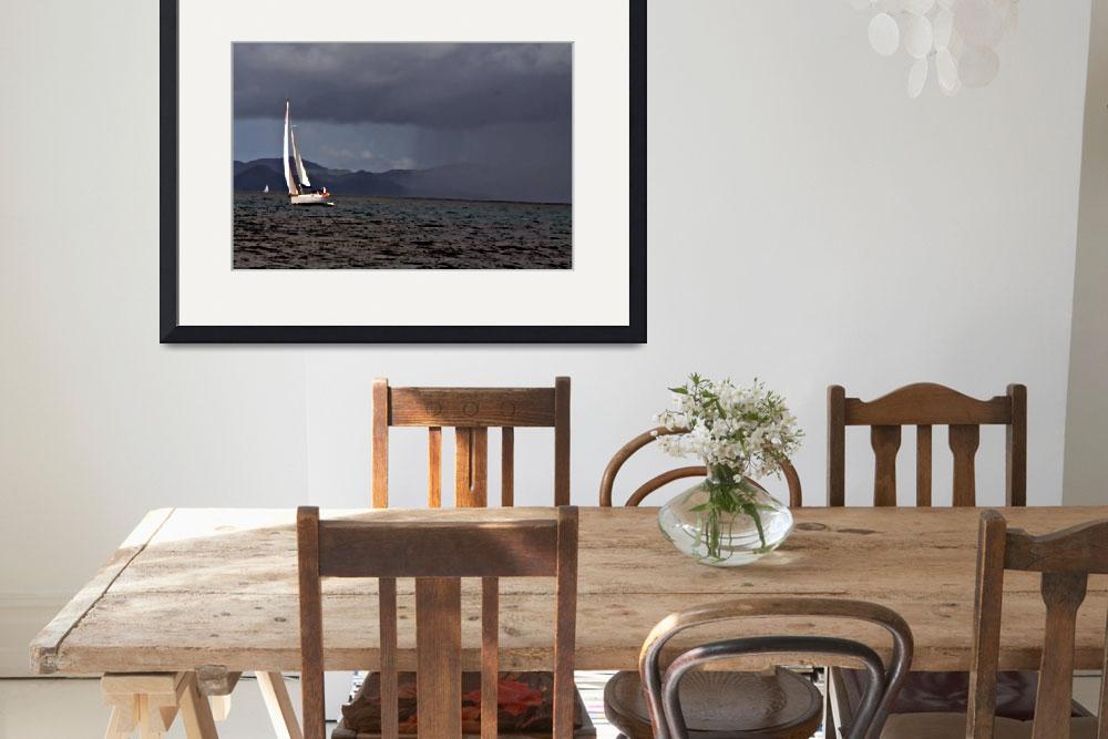 """""""Racing the Storm  (Painting Photo Illustration)&quot  (2008) by SailingArtGifts"""