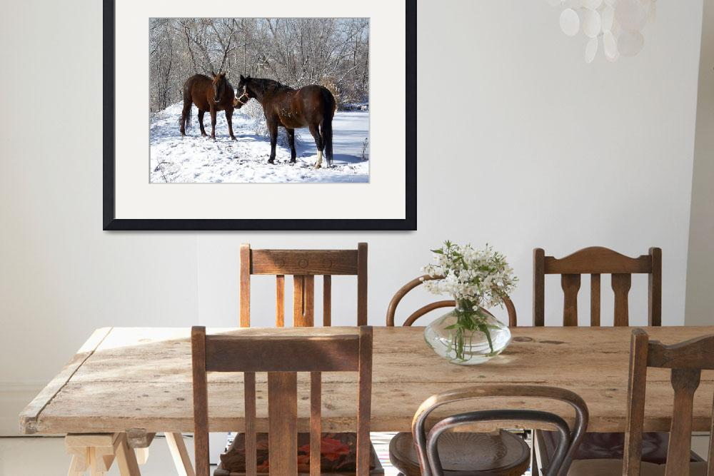"""""""Horses in the Snow&quot  (2009) by PettProjects"""