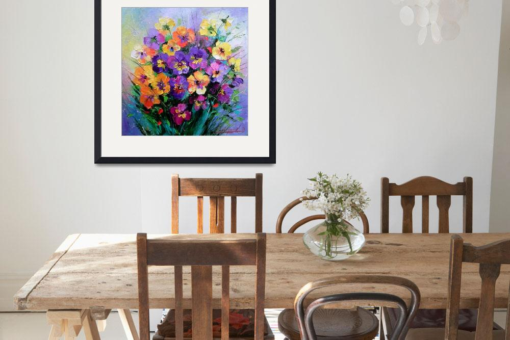 """""""pansy&quot  (2014) by OlhaDarchuk"""