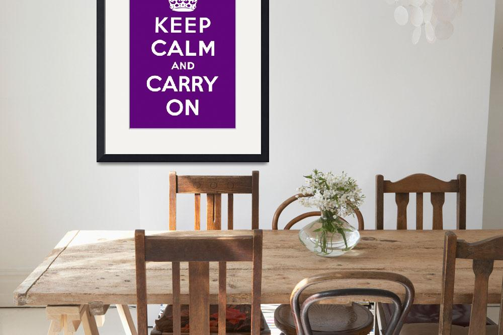 """""""Purple Keep Calm And Carry On 7&quot  by oldies"""