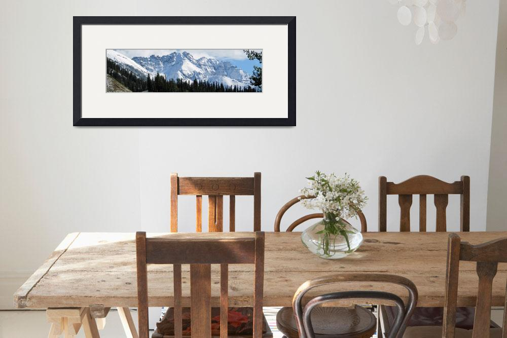 """Panoramic Scene of Snow-Capped Mountains&quot  (2012) by ethought"