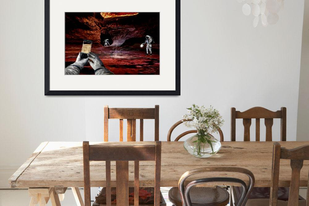 """""""Cave Exploration at Valles Marineris 2&quot  by billwright"""