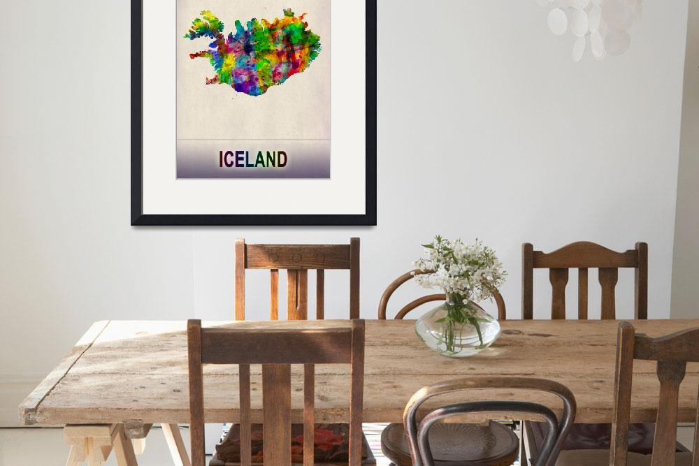 """""""Iceland Map""""  by Towseef"""