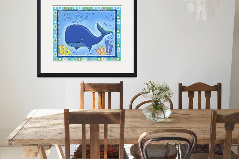 """""""Whale (with border)""""  by Littlepig"""