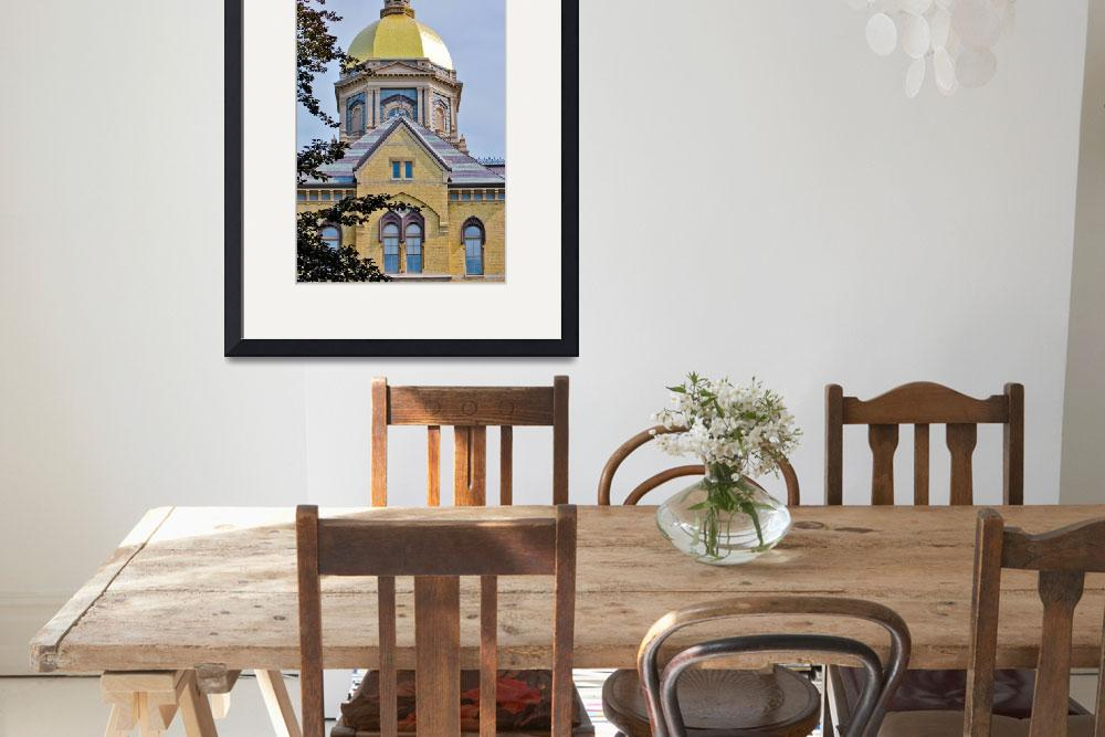 """Notre Dame Gold Dome&quot  (2009) by lwoodburn"
