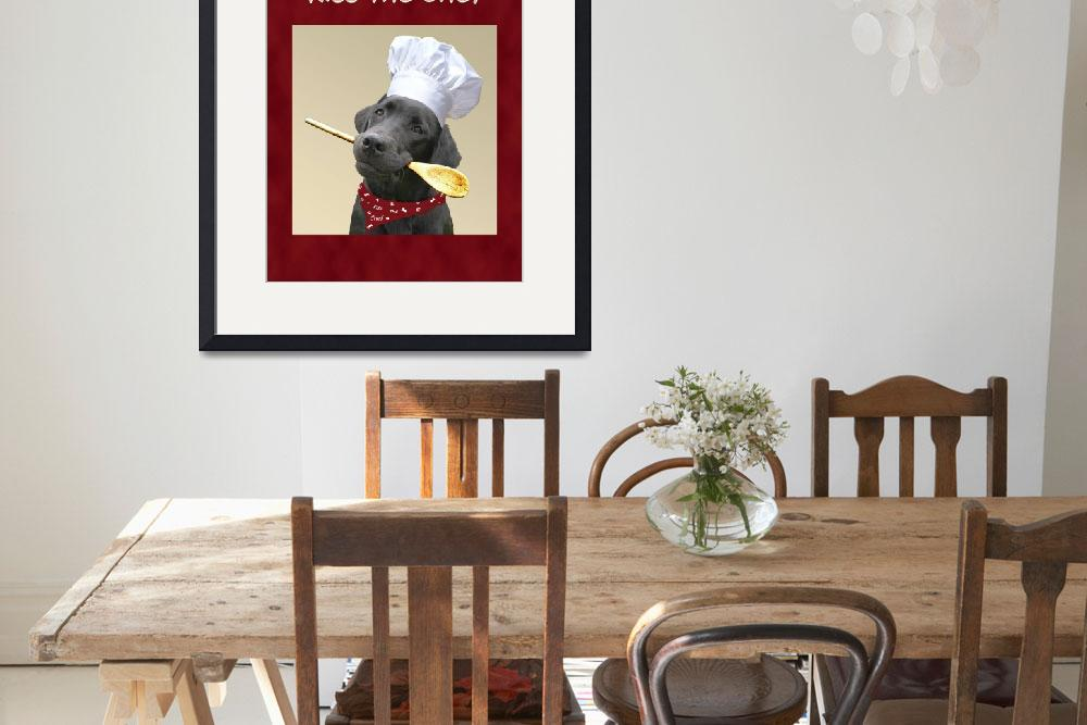 """Kiss the Chef Black Labrador Retriever&quot  (2006) by DogsandFlowers"