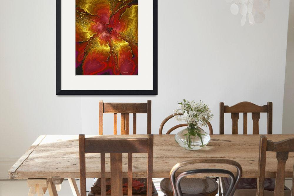 """""""Vibrant Red and Gold""""  (2013) by DBenoit"""
