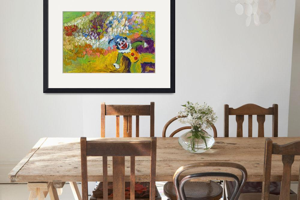 """""""Clown Modern Impressionism by Ginette&quot  (2014) by GinetteCallaway"""