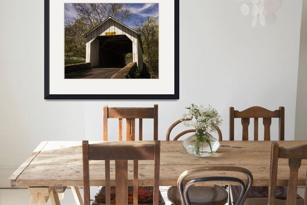 """""""Loux Covered Bridge 2&quot  (2017) by LouiseReeves"""