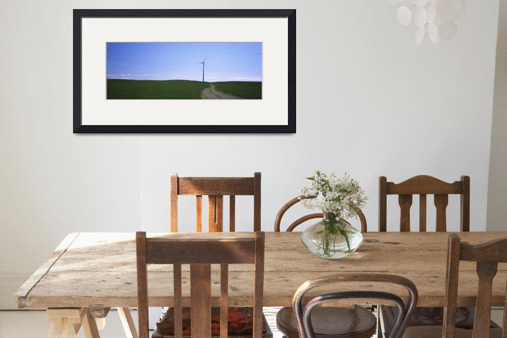 """""""Wind turbine in a field&quot  by Panoramic_Images"""