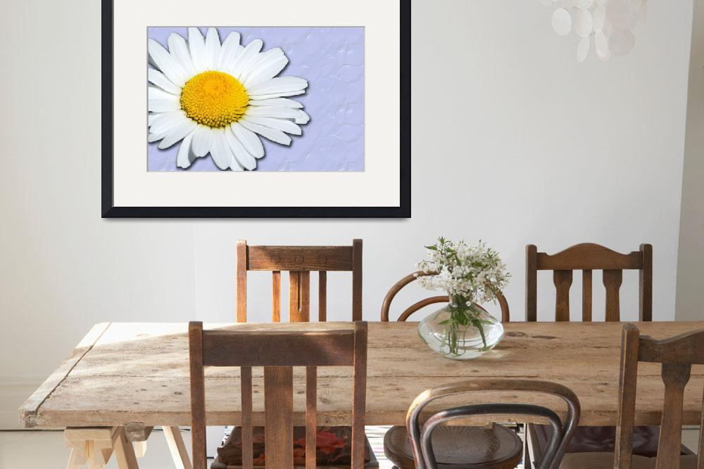 """""""Daisy Textured Blue""""  (2010) by grngobstpr"""