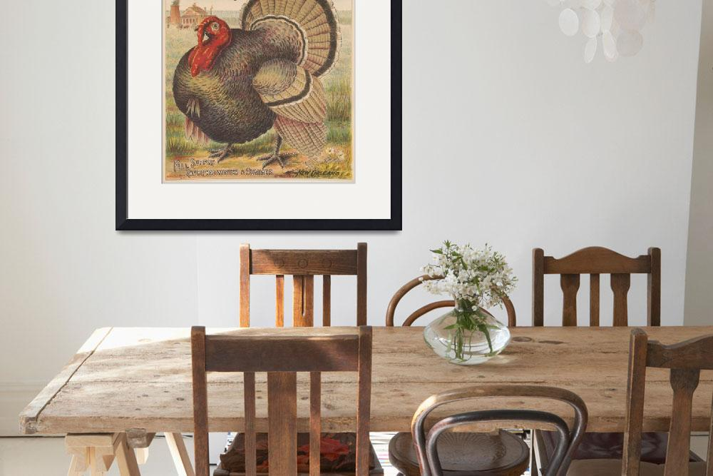 """Vintage Thanksgiving Turkey Illustration (1891)""  by Alleycatshirts"