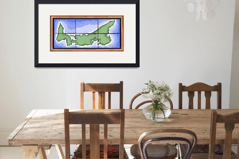 """""""Prince Edward Island Map&quot  (2005) by howyadoin"""