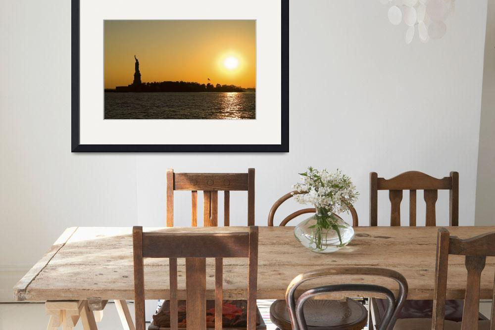 """Sunset Over Liberty Island&quot  (2006) by brianauer"