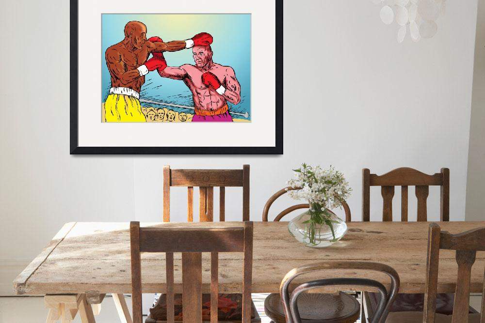 """""""boxer connecting knockout punch""""  (2013) by patrimonio"""