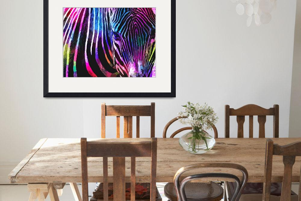 """Zebra Animal Print""  (2016) by rogueart"