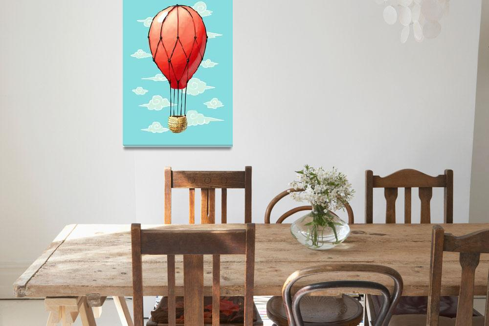 """""""Hot Air Balloon&quot  (2012) by freeminds"""