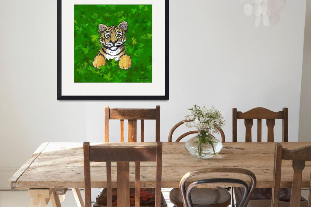 """""""Tiger In Green""""  (2007) by KiniArt"""