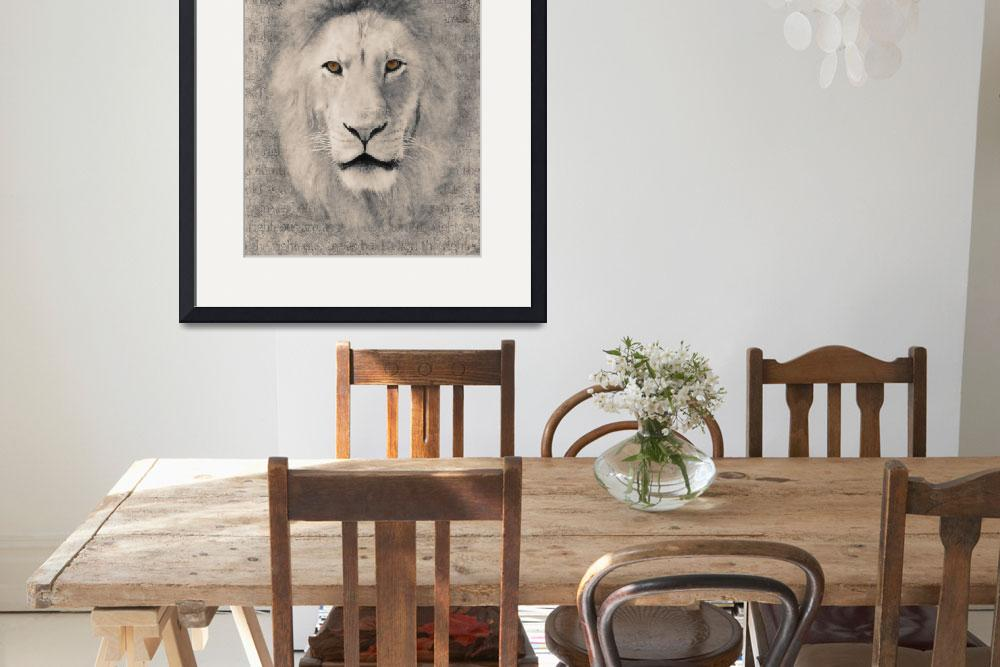 """""""Bold as a Lion in Black and White&quot  (2010) by LoriLindsey"""