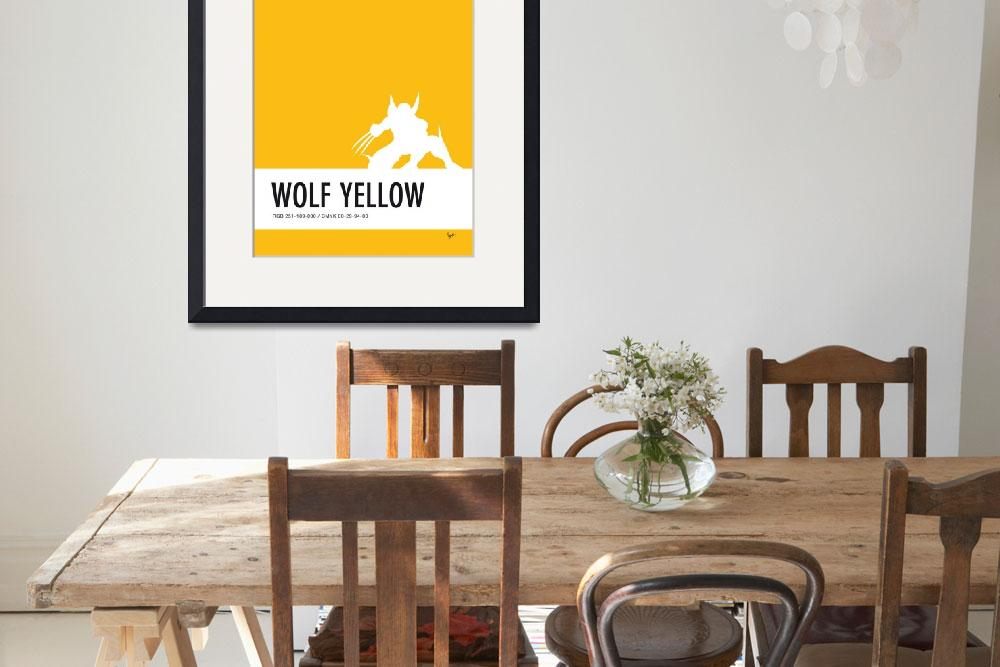 """""""No21 My Minimal Color Code poster Wolverine&quot  by Chungkong"""