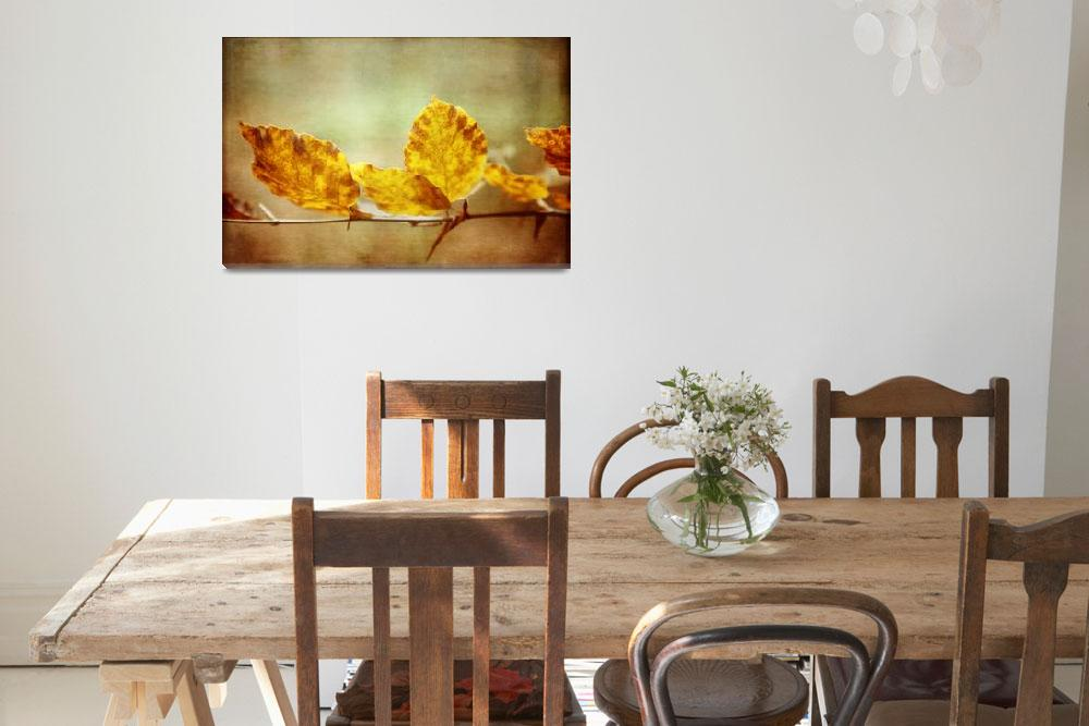 """""""Autumn Leaves with Textures and Grunge Effect""""  (2013) by NatalieKinnear"""