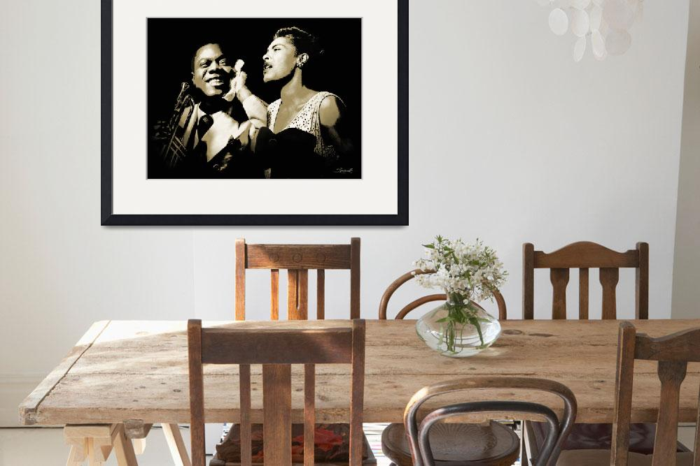 """Louis Armstrong and Billie Holiday Portrait&quot  (2017) by spadecaller"