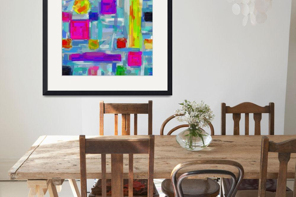"""""""Modern Abstract Color Combination 8&quot  by motionage"""