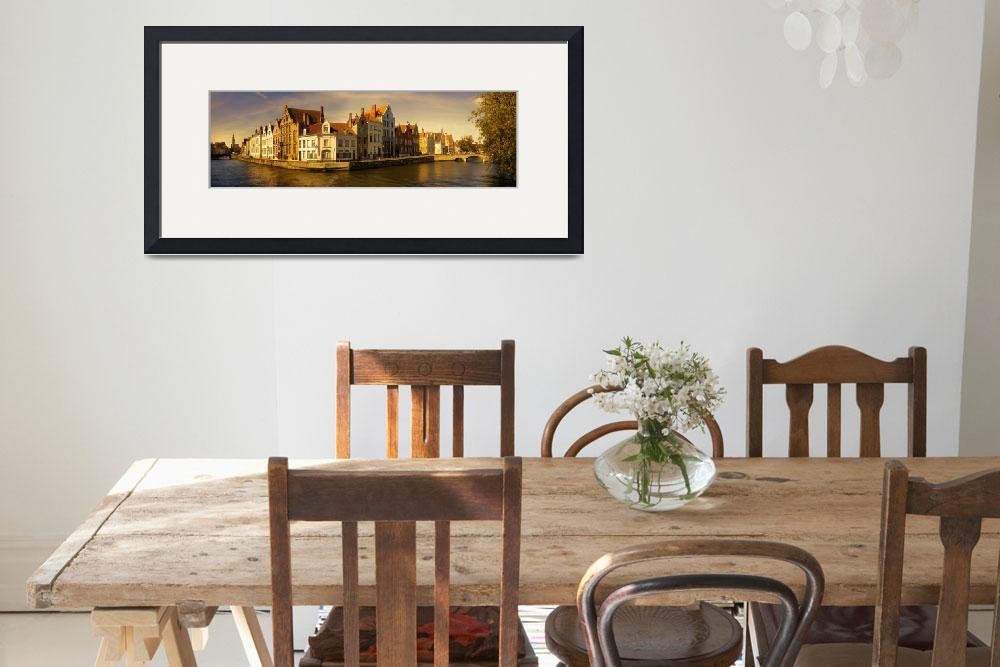 """""""Bruges Panorama&quot  (2018) by AnnG"""