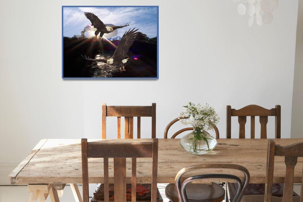 """""""Mountains, River, & Eagles - Flight of the Eagles&quot  (2001) by ExcaliburReb"""
