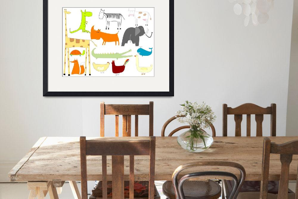 """""""drawing of animals isolated on white background&quot  by robertosch"""