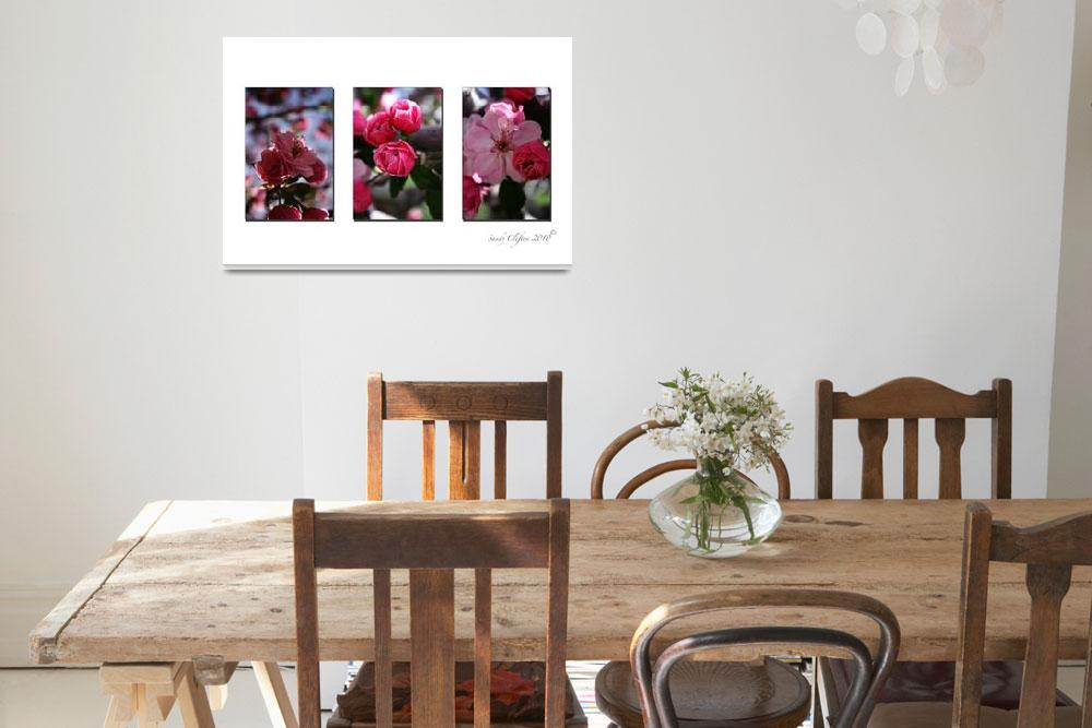 """""""Flowers in Three""""  (2010) by cliftondesigns"""