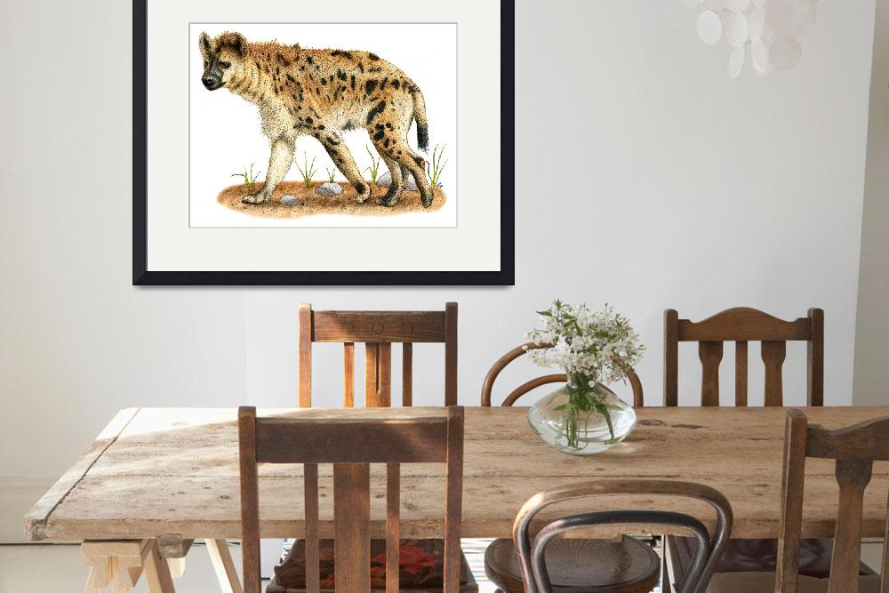 """""""Spotted Hyena&quot  (2009) by inkart"""