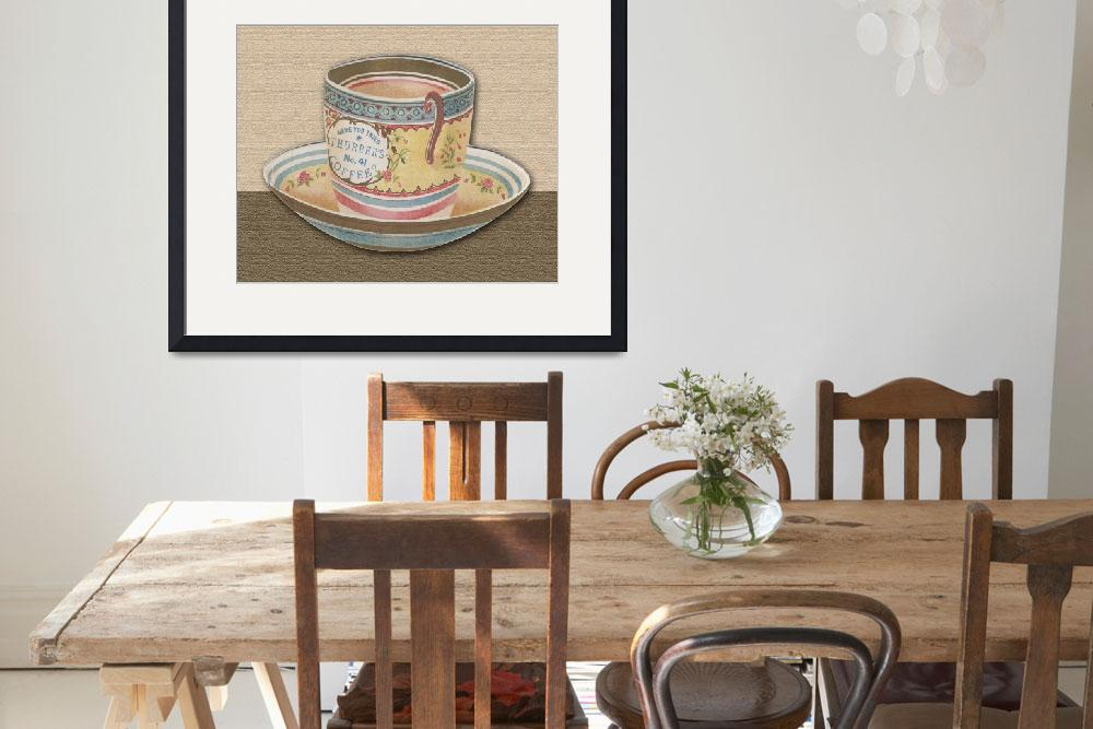 """""""Vintage Coffee Cup""""  by DelightfulTrifles"""