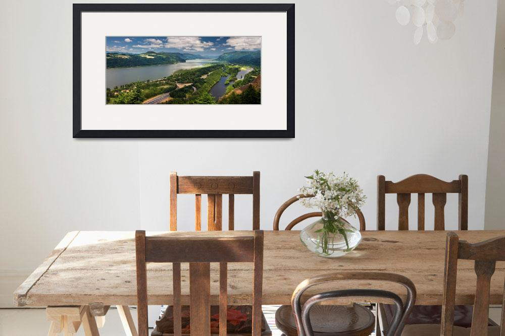 """""""COLUMBIA RIVER GORGE PANORAMA&quot  (2011) by pbk"""