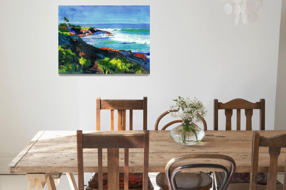 """La Jolla Cove looking west by RD Riccoboni&quot  (2006) by RDRiccoboni"