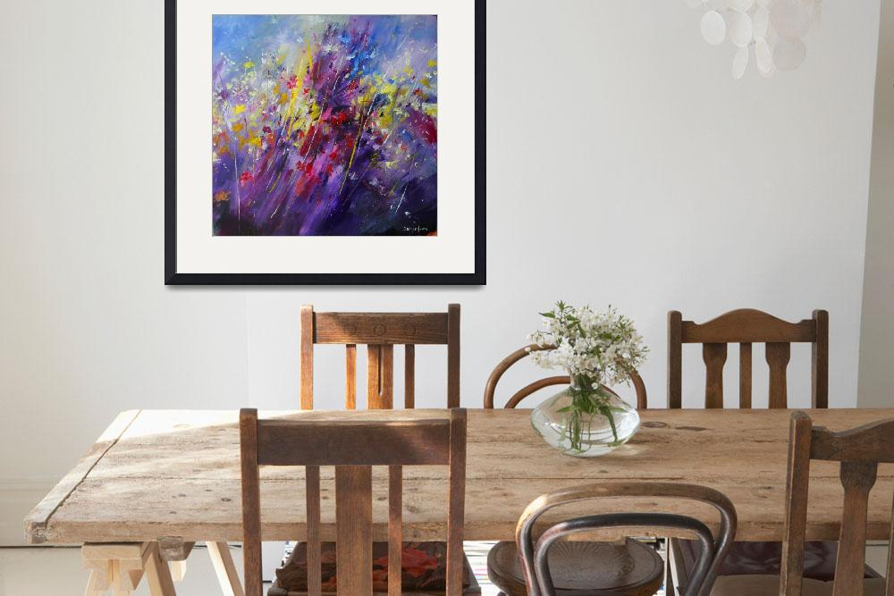 """""""Abstract flower painting 2011&quot  (2011) by zampedroni"""