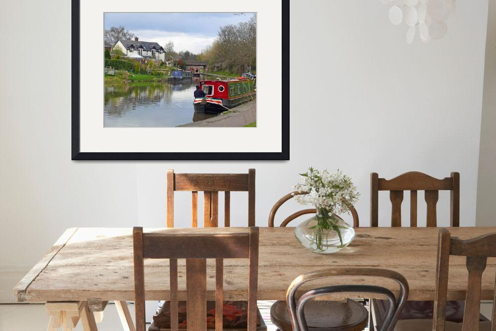 """""""Boating on the Canal, Cheshire, England""""  (2008) by stockphotos"""